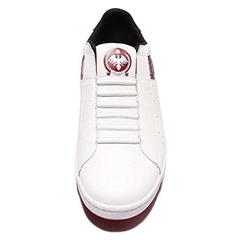 Icône Royal Elastics Mens, Blanc / Rouge Blanc / Rouge