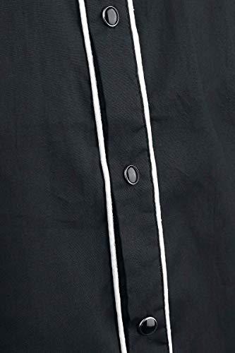 Negro Banned Plain blanco Camisa Trim 1qW7rdqC
