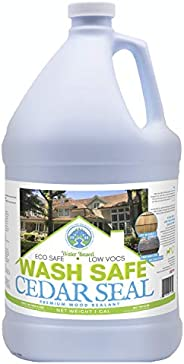 Wash Safe Industries Cedar SEAL, Wood Waterproofing Sealer, 1 gal Bottle
