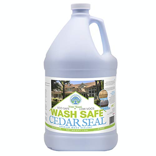 Wash Safe Industries Cedar SEAL, Wood Waterproofing Sealer, 1 gal Bottle