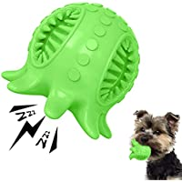 Dog Toy Ball Tooth Cleaning Octopus Shape Jolly Ball for Dogs Chew Squeaky Toys Treat Food Dispensing Ball for Small…