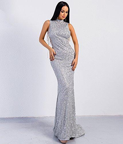 Missord Damen Cocktail Kleid Silber nzL0g3v - lackey.tischlerei ...