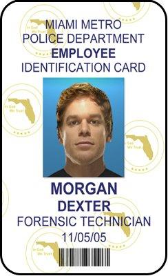 Amazon com : Dexter ID Card Prop Morgan Dexter Forensic Technician