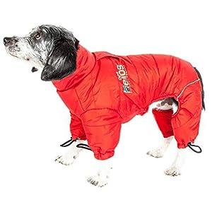 DOGHELIOS 'Thunder-Crackle' Full-Body Bodied Waded-Plush Adjustable and 3M Reflective Pet Dog Jacket Coat w/Blackshark… Click on image for further info.