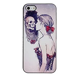 Monster-revealing Mirror Pattern PC Hard Case with Black Frame for iPhone 5/5S