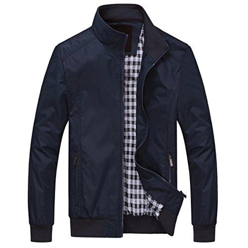 Big Bomber (MAGE MALE Men Windbreaker Bomber Jacket Lightweight Softshell Outdoor Sportswear Casual Coat)