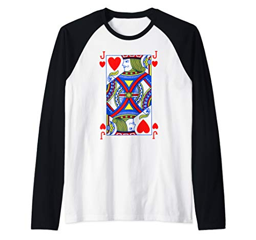 Jack Of Hearts Shirt| Funny Halloween Costume Tee| Poker   Raglan Baseball Tee]()