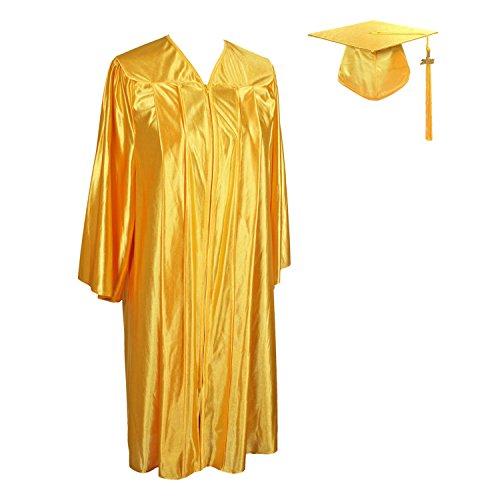 GraduationService Unisex Adult Graduation Shiny Gown Cap Tassel 2019 Year Charm Package Gold