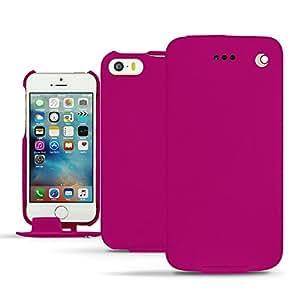 Funda de piel Apple iPhone SE - Pulsion - Rose fluo