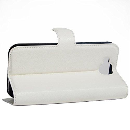 Para DOOGEE X9 mini Litchi patrón de textura flotante horizontal cubierta de cuero de la caja del soporte con el sostenedor y las ranuras para tarjeta y la carpeta by diebelleu ( Color : Magenta ) White