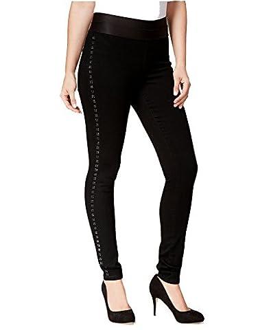 Style & Co. Embellished Pull-On Jegging Jeans (XL, Black Rinse) - Co Black Denim