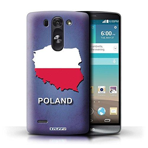 Kobalt® Imprimé Etui / Coque pour LG G3 S (Mini)/D722 / Pologne/Polonais conception / Série Drapeau Pays