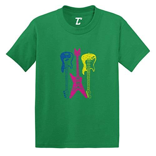 (Guitars Neon - Rockstar Musician Infant/Toddler Cotton Jersey T-Shirt (Kelly, 4T))