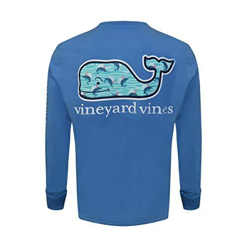 Vineyard Vines Men's Long Sleeve Cotton Graphic Pocket T-Shirt (Hull Blue Marlin Fill, Medium)