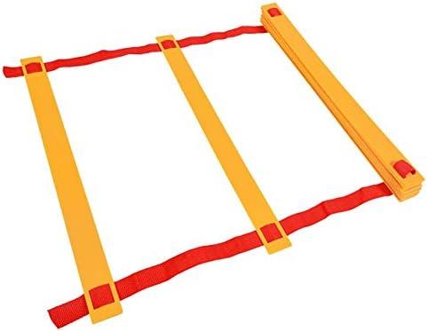 Escalera de velocidad Fútbol Entrenamiento de Velocidad Escalera de Coordinación Entrenamiento Rápido Trabajo de Pies Agilidad Ejercicios Ayuda Escalera de Agilidad de Velocidad Ajustable: Amazon.es: Hogar