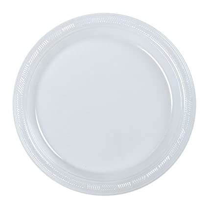 Hanna K. Signature Collection 50 Count Plastic Plate 9-Inch Clear  sc 1 st  Amazon.com & Amazon.com: Hanna K. Signature Collection 50 Count Plastic Plate 9 ...