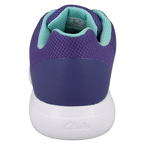 Sprintzone basses Baskets Jnr pour filles violet Clarks a4wHdqxfH