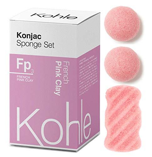 French Pink Clay Konjac Sponge