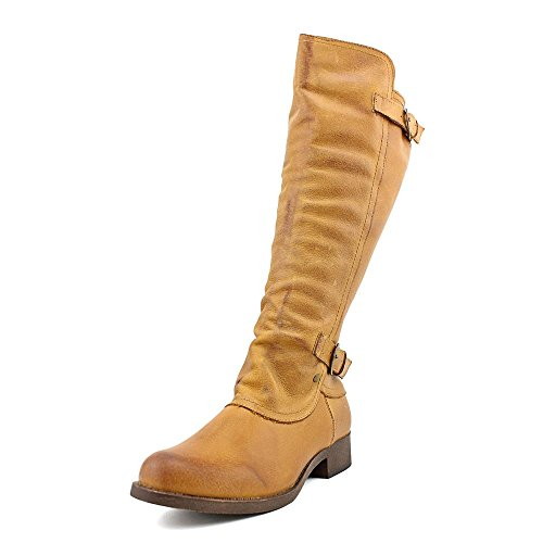 Rocket Dog Cato Women Round Toe Leather Knee High Boot  8  Tan Gold Rush Leather
