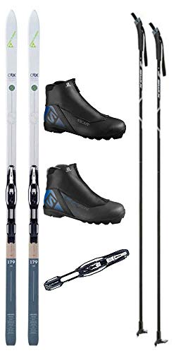 Fischer Spider 62 Cross Country Ski Package (Skis, Boots, Bindings, Poles)