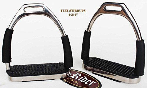 PRORIDER Horse Saddle English Stirrups Riding Flex Fillis Irons Double Jointed 51121B