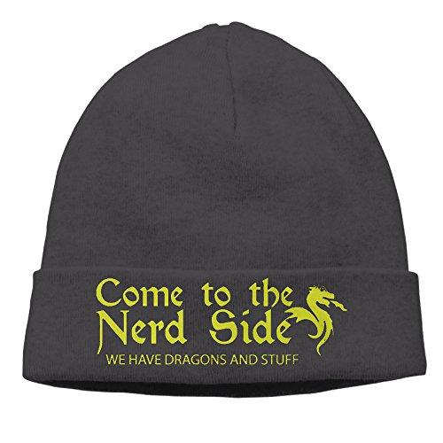 Beanie-Hat-Scientist-Gamer-Nerd-Dragon-Nerdy-Gift-Knit-Hat-Skull-Cap
