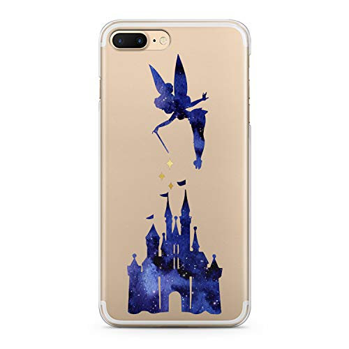 (Lex Altern iPhone Apple TPU Case Xs Max Xr 10 X 8 Plus 7 6s 6 SE 5s 5 Fairy Castle Tinkerbell Clear Cute Cover Print Protective Women Animation Silicone Transparent Flexible Girly Cartoon Present)
