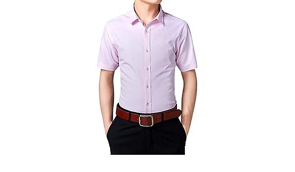 Xmiral - Camiseta de Manga Corta para Hombre, sin Planchar ...