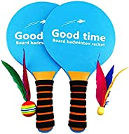 Paddle Ball Game, Arespark Creative Wooden Beach Racket, Indoor and Outdoor Toys Can Play on The Beach, Lawn,