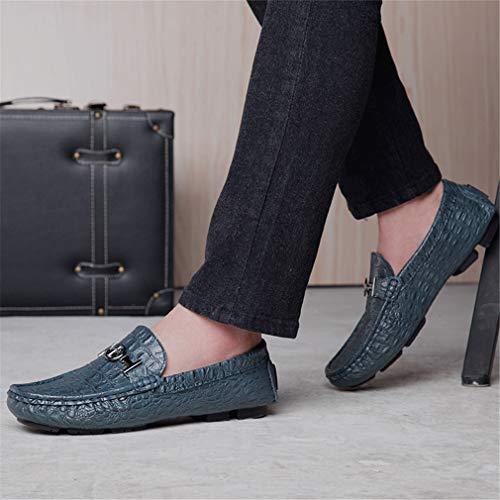 Metal Driving The Correa Acolchada Cuero Zapatos de Slip Hombre de Mocasines Moda Plantilla Across Elegantes On Casuales Shoes 2018 Vamp Un CC6qaXw