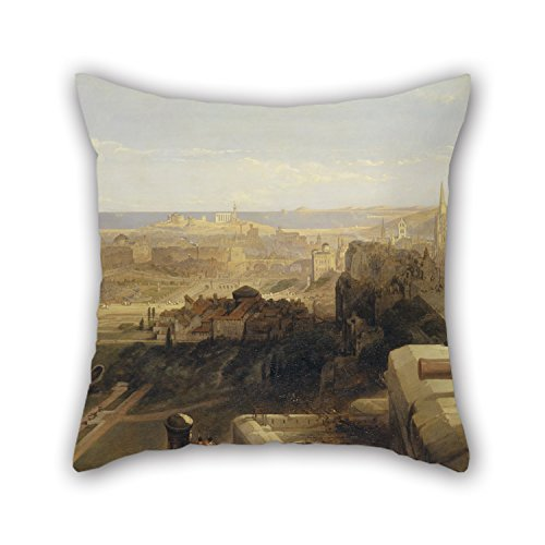 eyeselect Oil Painting David Roberts - Edinburgh from The Castle Pillow Cases 18 X 18 Inches / 45 by 45 cm Best Choice for Outdoor Valentine Son Bedding Girls Study Room with Twin Sides for Christmas