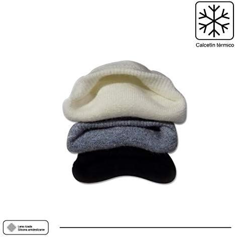 Calcetines Invisibles Unisex T/érmico Lana Calcetines Cortos Hombre POPYS 2 Pares