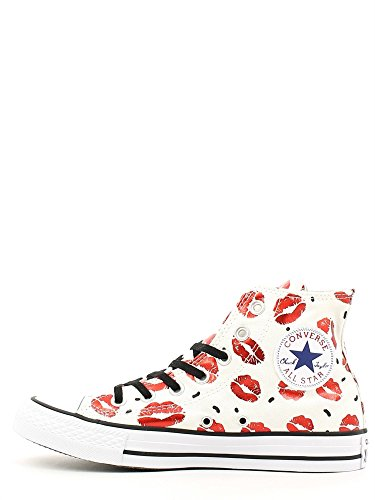 36 WHITE ALL CONVERSE Femme 5 WHITE HI STAR SNEAKERS 552744C qIgIAw8