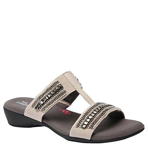 Ros Hommerson Women's Marcy Sandals, Beige Leather, 10.5 W