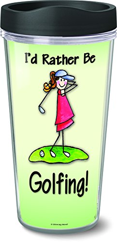 My Word 51042 Rather Be Golfing Insulated Travel Mug 16 oz Multicolor