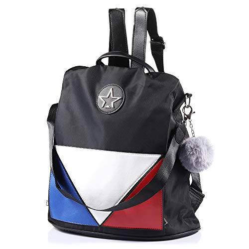 (Women Backpack Purse for Women Anti-Theft Fashion Casual Shoulder Bag Lightweight School Bag (Lingge))
