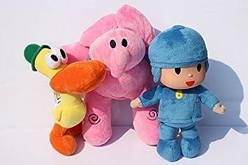 "Pocoyo Plush 11.8"" / 30cm Pocoyo Elly Pato 3pcs Set Doll Stuffed Animals Figure Cute"
