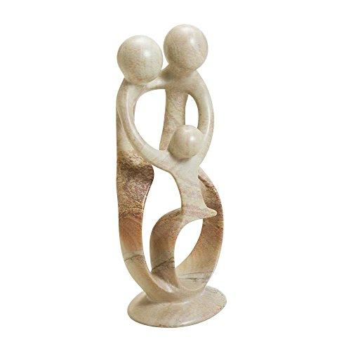 Ten Thousand Villages Kisii Stone Sculpture 'Parents & Child Statue'
