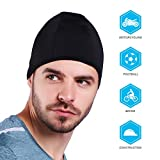 Helmet Liner Skull Cap.Waterproof Hat Perfect for Running, Cycling, Skiing & Winter Sports. Fits Under Helmets-Black