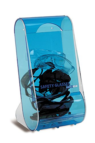 Heathrow Scientific HD1040A Translucent Acrylic Clearly Safe Safety Glass Wall Dispenser 203 mm Length x 203 mm Width x 406 mm Height, Blue HS1040A