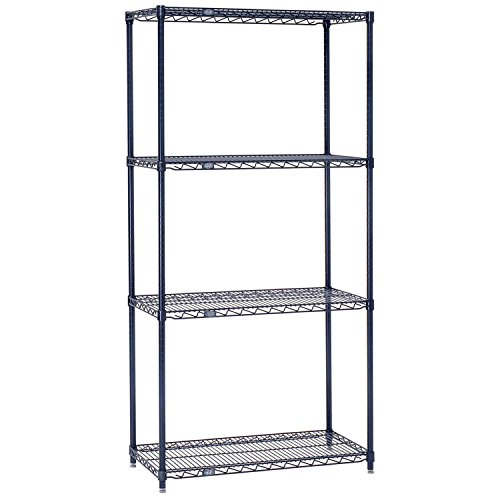 Nexelon Wire Shelving, Blue Epoxy, 30