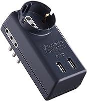 Electraline 70024 Adattatore Multipresa 5 Posti 2 USB, 1 Presa B