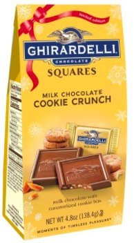 - Exclusive Limited Edition Ghirardelli Milk Chocolate Cookie Crunch Squares - milk chocolate with caramalized cookie bits