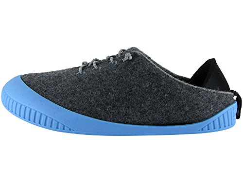 Fit with Unisex Dark Shoe 100 Dualyz Grey Slipper Wool Sky Sole Removable fdaO4Aq
