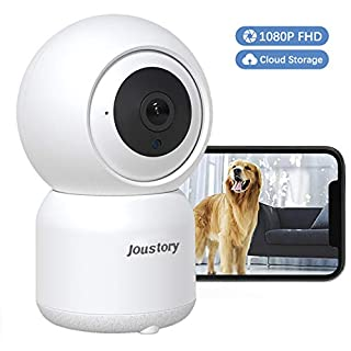 Home Security Camera Wireless Joustory Smart WiFi Camera Indoor 1080P for Pet Nanny Baby Monitor with Pan/Tilt/Zoom Night Vision Motion Detection 2 Way Audio 2.4G WiFi