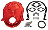 454 timing chain - Chevy Big Block 396-402-427-454 Steel Timing Chain Cover Set w/ Timing Tab - Orange