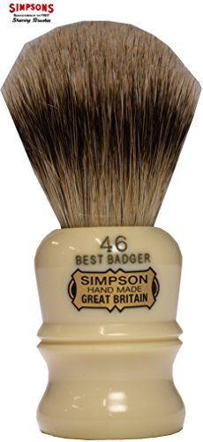 Simpson Shaving Brushes Berkeley 46 B Best Badger Handmade British Shaving Brush by Simpson Shaving Brushes (Simpson Chubby 2 Best Badger)