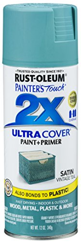 (Rust-Oleum 316292 Painter's Touch 2X Ultra Cover, 12 oz, Vintage Teal)