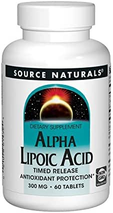 SOURCE NATURALS Alpha Lipoic Acid 300 Mg Timed Release Tablet, 60 Count