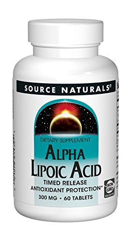 Source Naturals Alpha Lipoic Acid - Supports Healthy Sugar Metabolism, Liver Function & Energy Generation - 60 Time Release Tablets